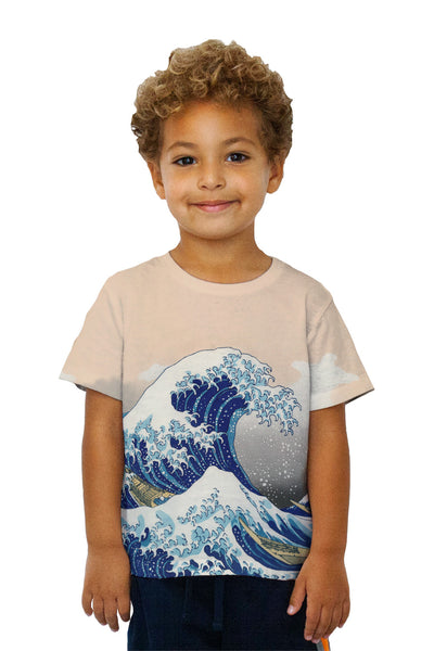 "Kids Katsushika Hokusai - ""The Great Wave Off Kanagawa"" ( 1830-1833) Kids T-Shirt"