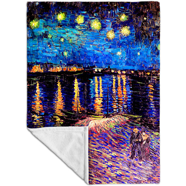"Vincent Van Gogh - ""The Starry Night"" (1889) Fleece Blanket"