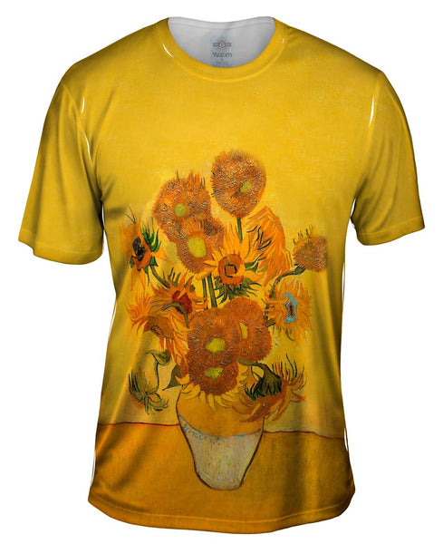 "Vincent Van Gogh - ""Sunflowers(London version)"" (1889) Mens T-Shirt"