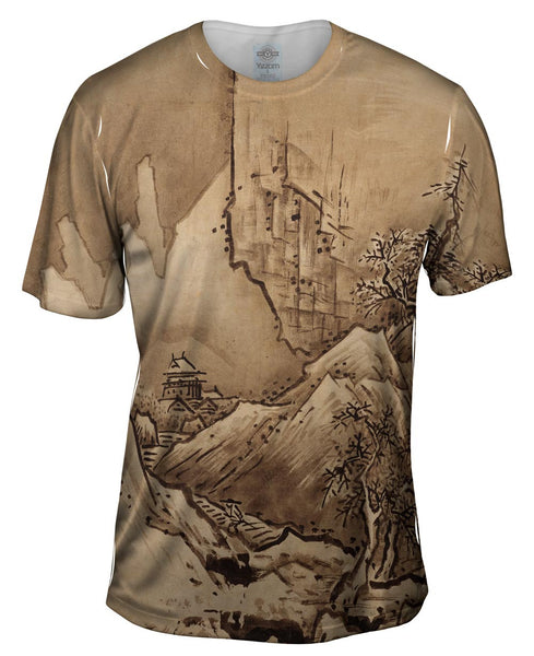 "Sesshu Toyo - ""Winter Landscape"" (1486) Mens T-Shirt"
