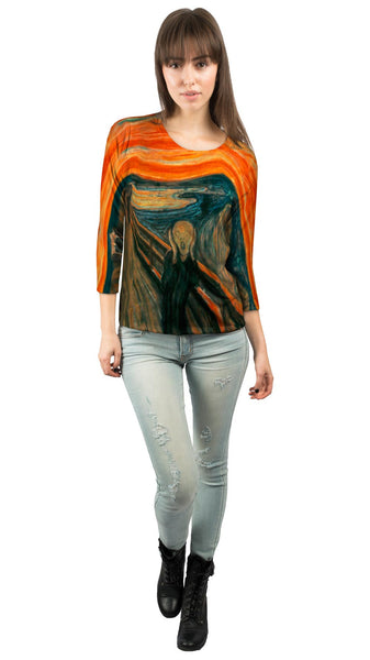 "Edvard Munch - ""The Scream"" (1895) Womens 3/4 Sleeve"
