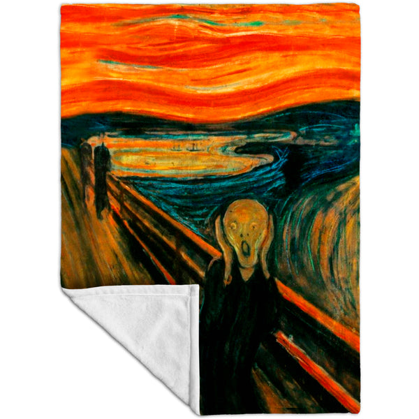 "Edvard Munch - ""The Scream"" (1895) Fleece Blanket"