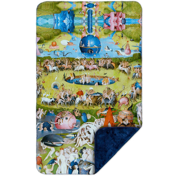 "Hieronymus Bosch ""The Garden of Earthly Delights"" 05 MicroMink(Whip Stitched) Navy"