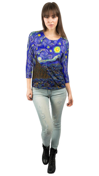 "Vincent van Gogh - ""The Starry Night"" Womens 3/4 Sleeve"