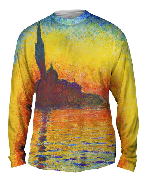 "Claude Monet - ""Venice Twilight"" Mens Long Sleeve"