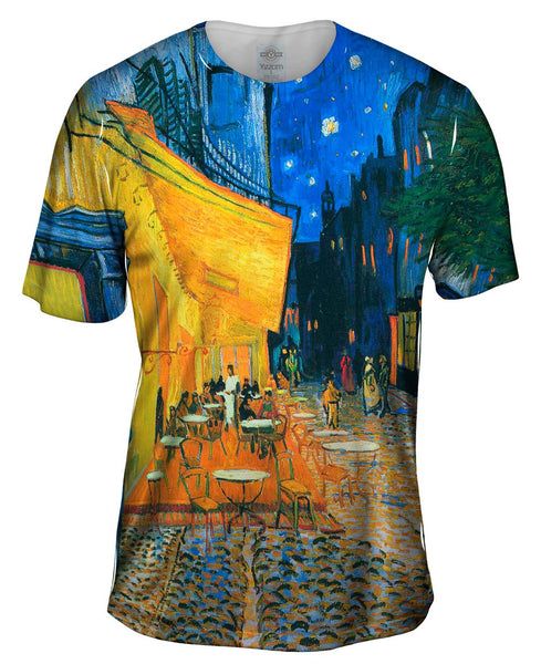 "Vincent van Gogh - ""The Terrace Café On The Place Du Forum In Arles At Night Arles"" (1888) Mens T-Shirt"