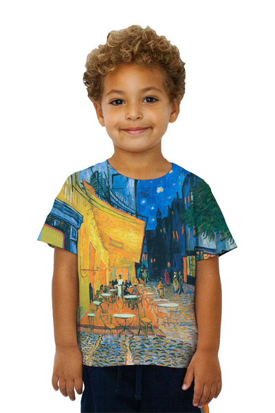 "Kids Vincent van Gogh - ""The Terrace Café On The Place Du Forum In Arles At Night Arles"" (1888) Kids T-Shirt"