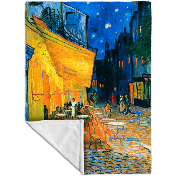 "Vincent van Gogh - ""The Terrace Café On The Place Du Forum In Arles At Night Arles"" (1888) Fleece Blanket"