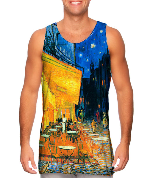 "Vincent van Gogh - ""The Terrace Café On The Place Du Forum In Arles At Night Arles"" (1888) Mens Tank Top"