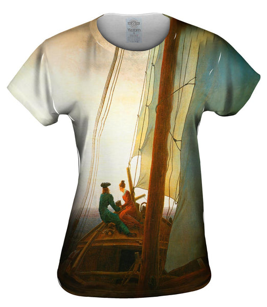 "Caspar David Friedrich - ""On the Sailing Boat"" (1819) Womens Top"