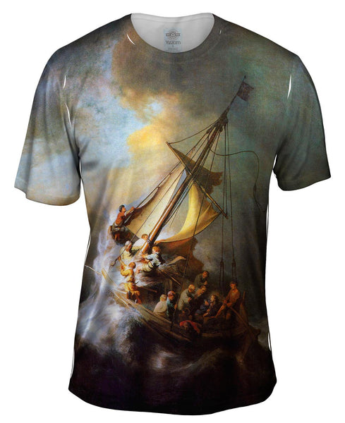 "Rembrandt Harmenszoon Van Rijn - ""Christ On The Storm On The Sea Of Galilee"" (1632) Mens T-Shirt"
