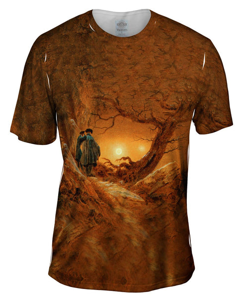 "Caspar David Friedrich - ""Two Men Contemplating the Moon"" (1819) Mens T-Shirt"