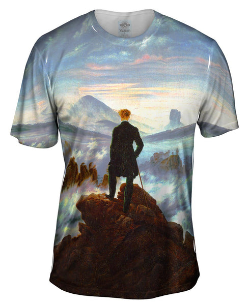 "Caspar David Friedrich - ""Wanderer Above the Sea of Fog"" (1818) Mens T-Shirt"