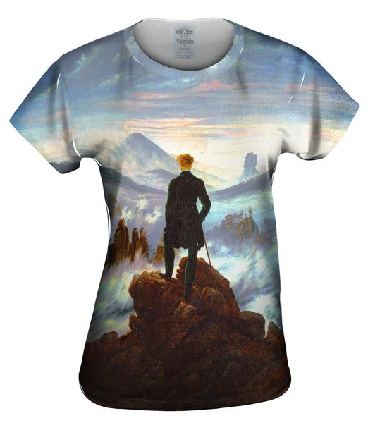 "Caspar David Friedrich - ""Wanderer Above the Sea of Fog"" (1818) Womens Top"