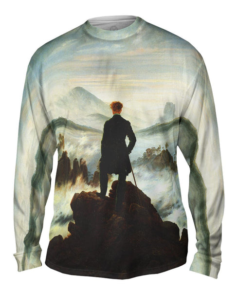 "Caspar David Friedrich - ""Wanderer Above the Sea of Fog"" (1818) Mens Long Sleeve"