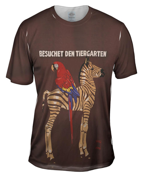"Ludwig Hohlwein - ""Besuchet, The Zoo"" (1912) Mens T-Shirt"