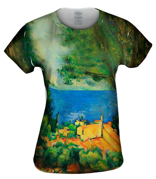 "Paul Cezanne - ""L_#_Estaque with Red Roods"" (1885) Womens Top"