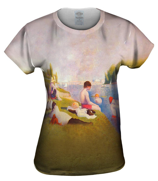"Georges Seurat - ""Une baignade a Asnieres (Bathers at Asnieres)"" (1883-84) Womens Top"