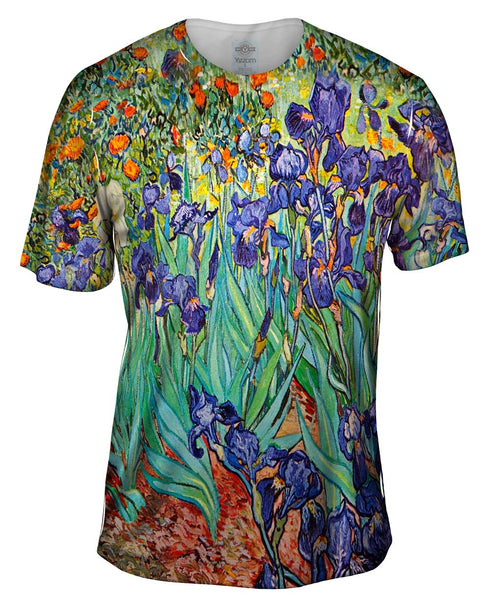 Vincent Van Gogh - Irises (1889) Mens T-Shirt