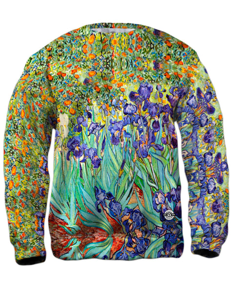 Vincent Van Gogh - Irises (1889) Mens Sweatshirt