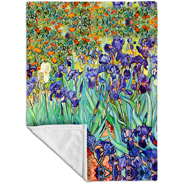 Vincent Van Gogh - Irises (1889) Fleece Blanket