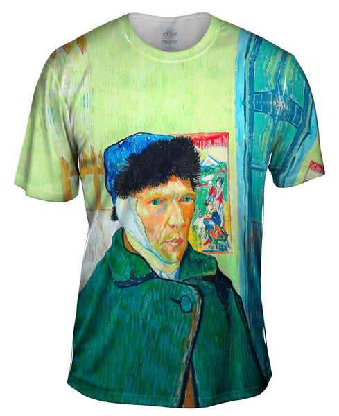 "Vincent Van Gogh - ""Self-portrait with bandaged ear"" (1889) Mens T-Shirt"