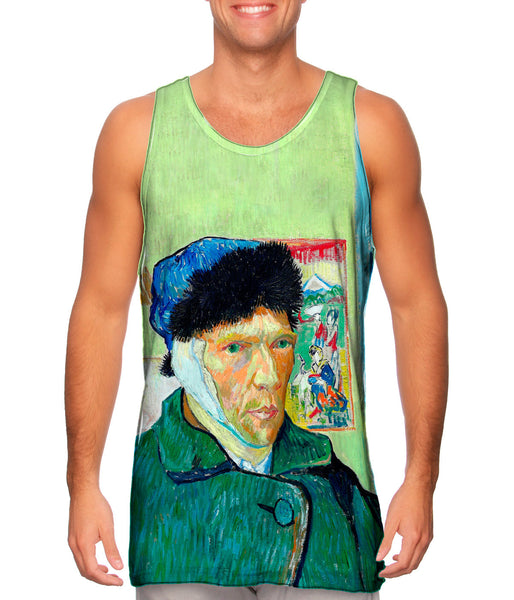 "Vincent Van Gogh - ""Self-portrait with bandaged ear"" (1889) Mens Tank Top"