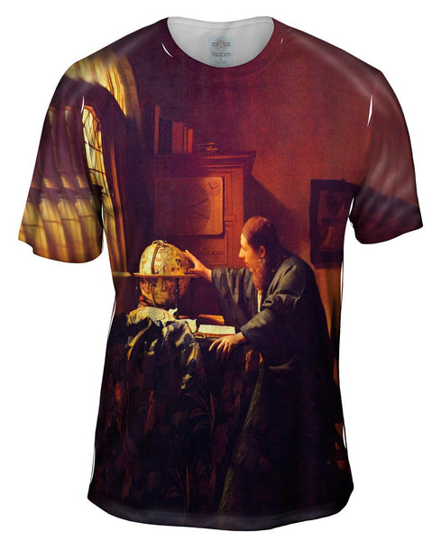 "Vermeer - ""The Astronomer"" (1668) - Louvre, Paris Mens T-Shirt"