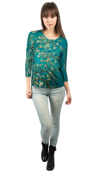 "Van Gogh - ""Blossoming Almond Tree"" (1890) Womens 3/4 Sleeve"