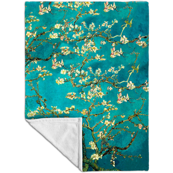 "Van Gogh - ""Blossoming Almond Tree"" (1890) Fleece Blanket"