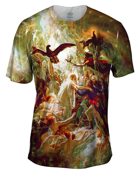 "Anne-Louis Girodet de Roussy-Trioson - ""Apotheosis of French Soldiers Fallen In The Liberation War"" Mens T-Shirt"