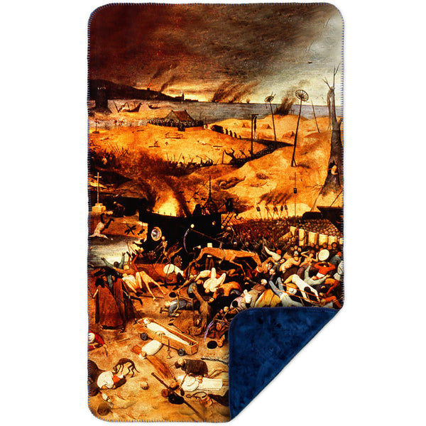 "Bruegel - ""Triumph of Death"" (1562) MicroMink(Whip Stitched) Navy"