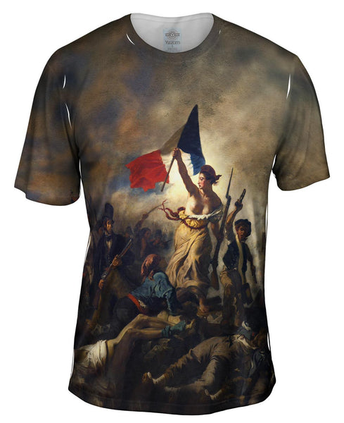 "Eugene Delacroix - ""La Liberte guidant le peuple (Liberty Leading the People)"" Mens T-Shirt"