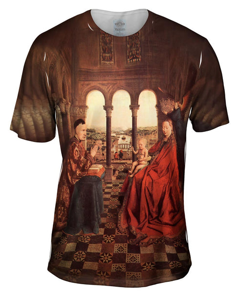 "Van Eyck - ""De Maagd van Kanselier Rolin~The Virgin and Chancellor Rolin"" (1620) Mens T-Shirt"