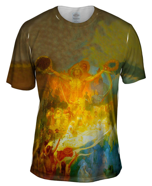 "Mucha - ""The Apotheosis of the Slavs"" Mens T-Shirt"