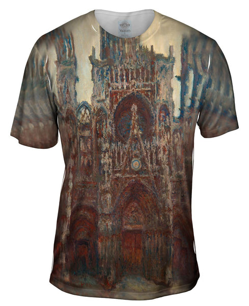 "Monet -""Roun Cathedral Evening"" (1894) Mens T-Shirt"