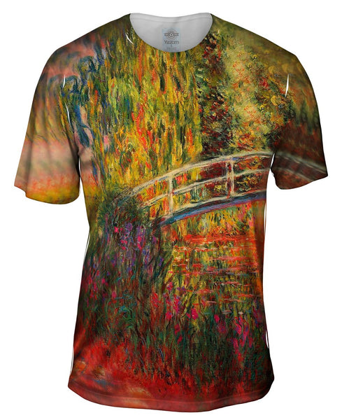 "Monet -""Water Lily Pond"" (1900) Mens T-Shirt"