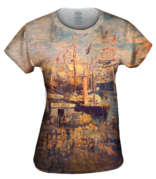 "Monet -""Grand Quai at Havre"" (1872) Womens Top"