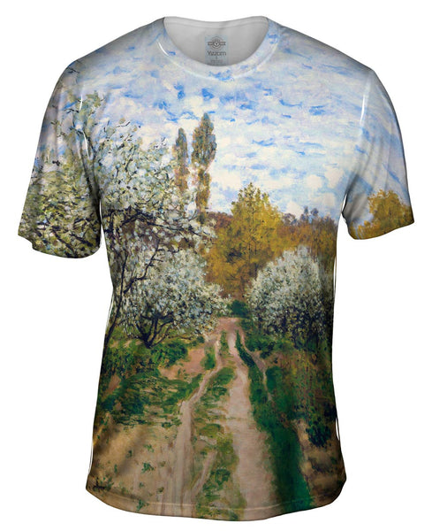 "Monet -""Trees in Bloom"" (1872) Mens T-Shirt"