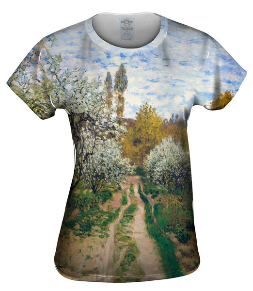 "Monet -""Trees in Bloom"" (1872) Womens Top"