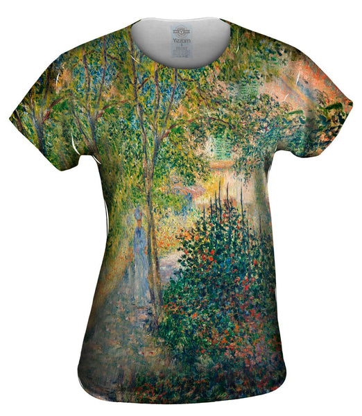 "Monet -""Garden in Argenteuil"" (1876) Womens Top"