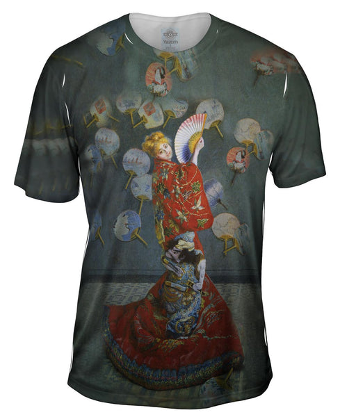 "Monet -""Madame in Japanese Costume"" (1875) Mens T-Shirt"
