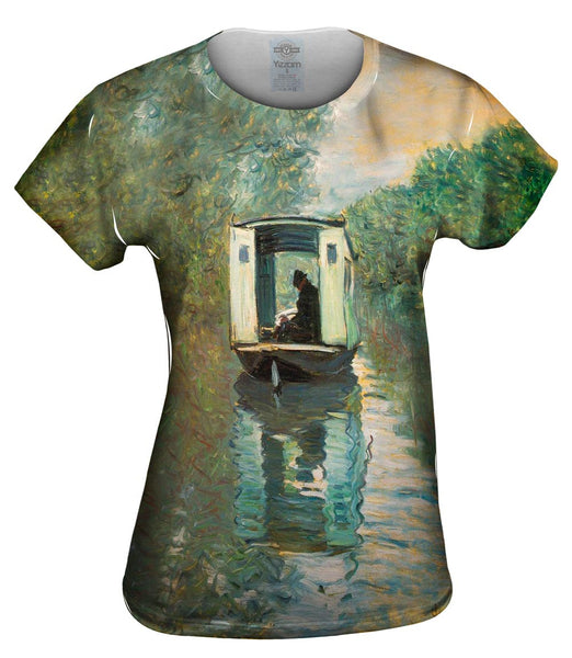 "Monet -""Le Bateau Atelier"" (1876) Womens Top"