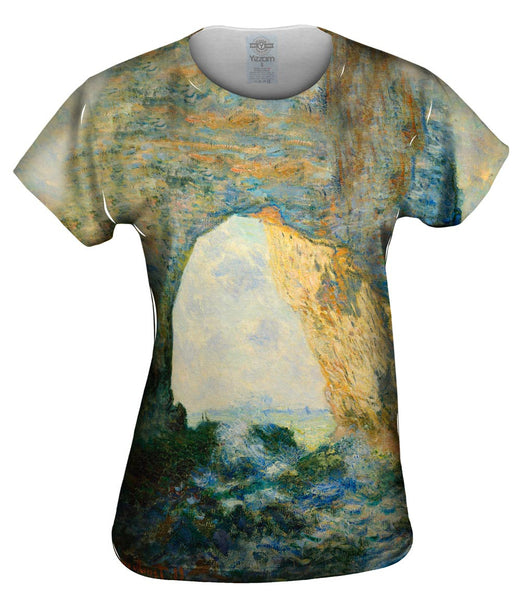 "Monet -""Rock Arch"" (1883) Womens Top"