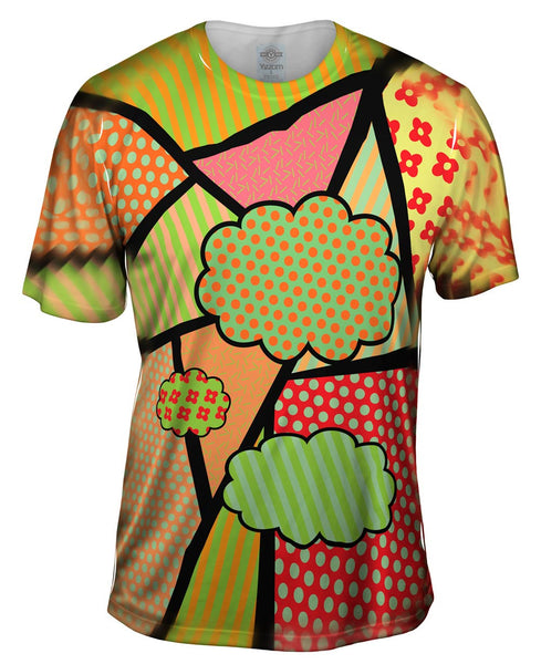 Clouds on Pink and Orange Mens T-Shirt