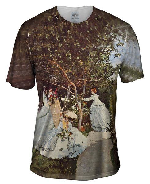 "Monet -""Women in the Garden"" (1886) Mens T-Shirt"