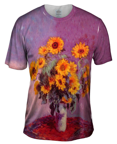"Monet -""Sunflowers"" (1881) Mens T-Shirt"