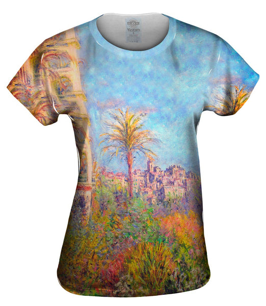 "Monet -""Villas at Bordighera"" (1884) Womens Top"