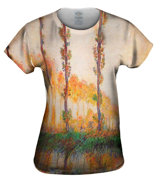 "Monet -""Poplars in Autumn"" (1891) Womens Top"
