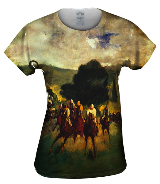 "Edouard Manet -""Races at Longchamp"" (1864) Womens Top"